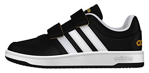 adidas Hoops Vs Cmf C, Zapatillas de Deporte para Niños Negro (Negbas / Ftwbla / Dorsol)