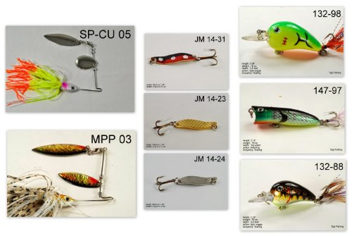 Akuna [WV] Pros' pick recommendation collection of lures for Bass, Panfish, Trout, Pike and Walleye fishing in West Virginia(Pan Fish 8-A)
