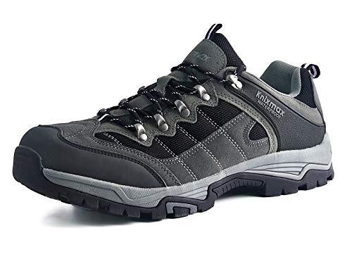 Knixmax Wanderschuhe Wasserdicht Trekkingschuhe Herren Damen Sport Outdoor Trekking-& Wanderhalbschuhe Wanderstiefel Dämpfung Sneaker Gr.36-46