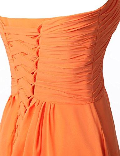 Clearbridal Chiffon Lange Damen Abendkleid Lila Herzform CSD182 Maxikleid BrautjungfernKleid 1q1rfg