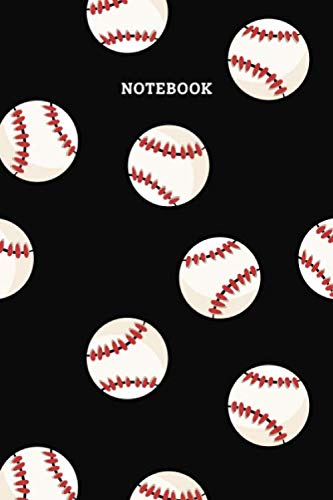 Notebook: Baseball Pattern Blank Lined Journal To Write In For Notes, Ideas, Diary, To-Do Lists, Notepad - Baseball Gifts For Baseball Lovers, ... Men, Women, Teens And Kids Who Love Baseball