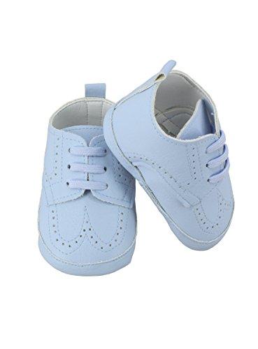 Boutique-Magique Hausschuhe Zeremonie Jungen Baby für Hochzeit oder Taufe–Produkt Gespeichert und verschickt Schnell seit Frankreich Himmelblau