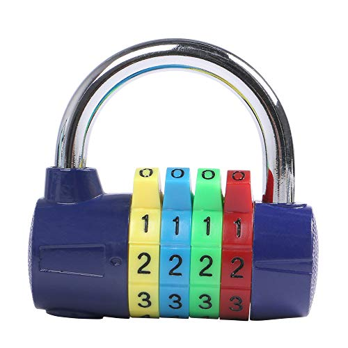 Eagle 4-Digit Combination Padlock, Luggage Lock, Resettable Code Lock, Ideal for Suitcase, Lockers, Portable