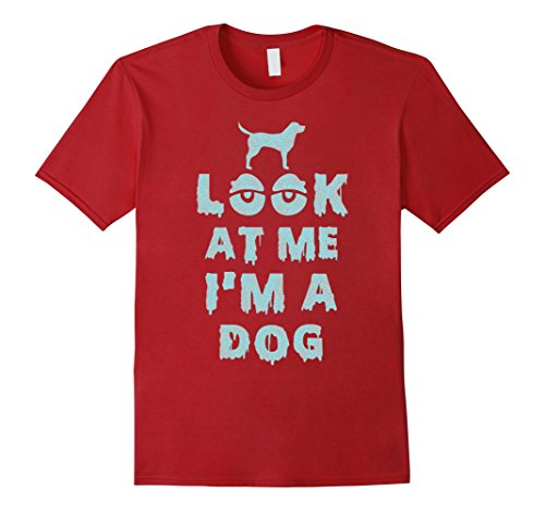 Mens Look At Me I'm A Dog Halloween Costume T-Shirt Medium (2017 Best Guy Halloween Costumes)