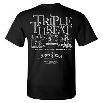 Ironville Triple Threat Squat Bench Deadlift Powerlifting T-Shirt