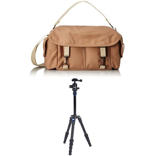 (Domke F-2 Original Bag (Sand) w/Davis & Sanford TR553-P228 Traverse Super Compact Tripod with Ball Head )