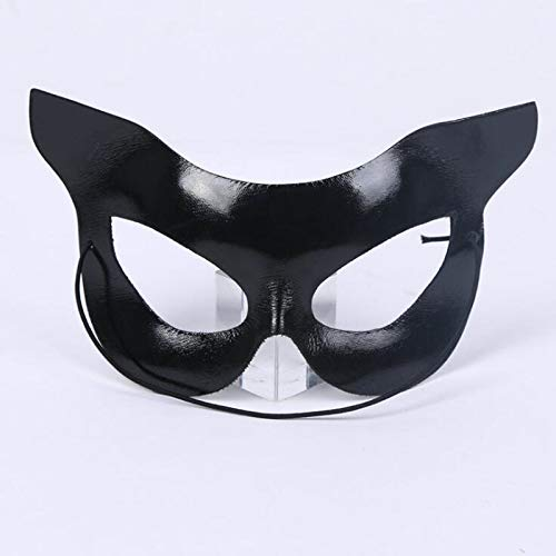 KathShop Balck Cat Mask Women Girls Masquerade Half Face Eye Masks Eyewear Halloween Dress up Decor Party Supplies