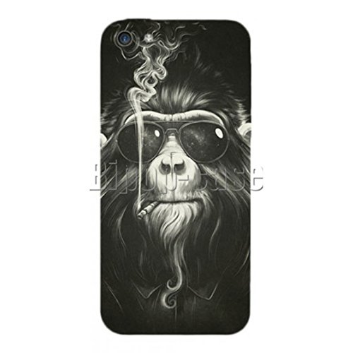 COQUE PROTECTION TELEPHONE IPHONE 5C - SINGE LUNETTES