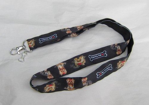 YORKSHIRE TERRIER YORKIE Dog Breed Ribbon Lanyard/Keychain/Badge Holder w/Metal Charm