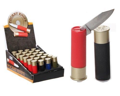 1 X Shotgun Shell Pocket Knife 2.5 Inches (Shotgun Real Shells)