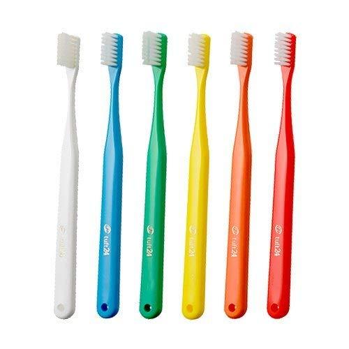 アリーナお風呂を持っているシンジケートオーラルケア キャップなし タフト24 歯ブラシ × 10本 (S)