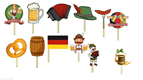 12 Oktoberfest Octoberfest Party Cupcake Toppers/Food Picks/Theme Party Queen ()