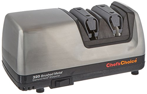 Chef's Choice 320 Diamond Hone 2-Stage Electric Knife Sharpener, Brushed Metal