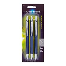 uni-ball Jetstream RT Fine Point Retractable Ball Point Pens, 3 Black Ink Pens (70877)