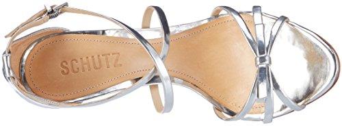 Prata con Mujer 13871100 Schutz para Pulsera Sandalia Prata S0 Plateado tSAnnxqzw