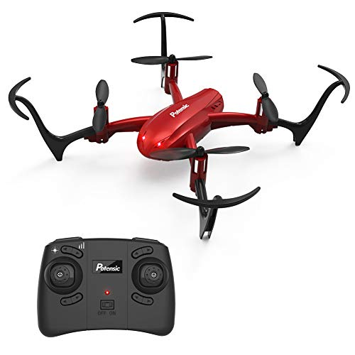 Potensic Mini Drone D10 RC Quadcopter 2.4G 6 Axis with Altitude Hold Function,360° Flip, Headless Mode for Beginners&Kids (Red)