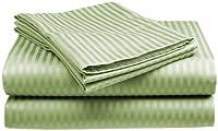 King Size Sage Classic Sateen Dobby Stripe Sheet Set