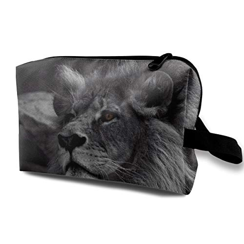 - Lion Cosmetic Bags Makeup Organizer Bag Pouch Zipper Purse Handbag Clutch Bag