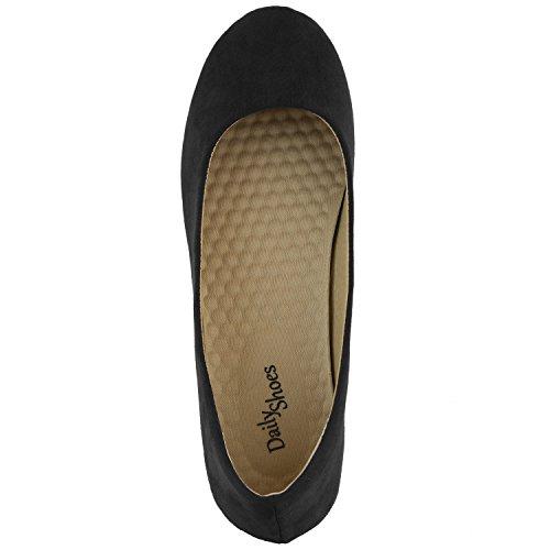 Dailyshoes Scarpe Classiche Da Donna Comoda Tomaia Piatta Tomaia Slip-on Sneaker-ideale Per Le Occasioni Casual In Camoscio Nero