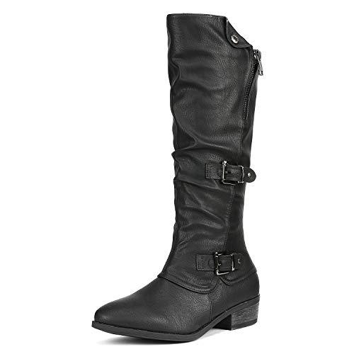 - DREAM PAIRS Women's PARKAR Black Winter Knee High Boots Size 7.5 B(M) US