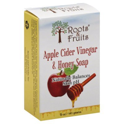 2 Packs of Roots And Fruits Bar Soap - Apple Cider Vinegar And Honey - 5 (Apple Bar Soap)