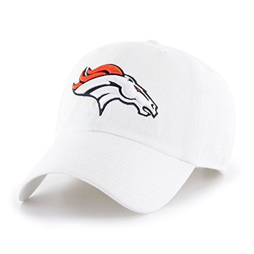 NFL Denver Broncos Men's OTS Challenger Adjustable Hat, White, One Size