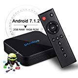 Android 7.1 TV Box,Android TV Box Pendoo X10 2GB RAM 16GB ROM Amlogic Quad Core 64 Bits Dual WiFi 2.4G+5G Support 4K (60Hz)/ H.265