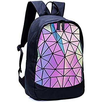 Amazon.com: Geométrica Holographic Monederos Luminoso Bolsos ...