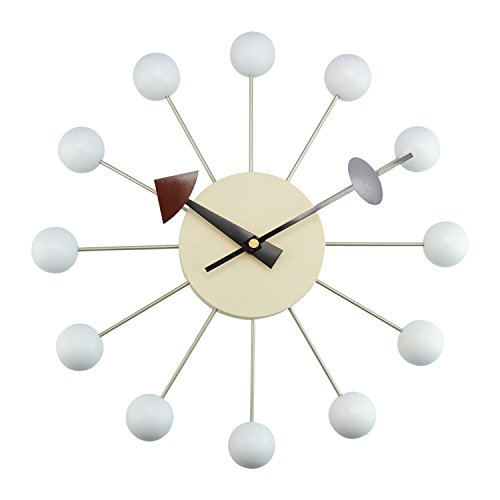 Kardiel George Nelson Style Ball Clock, White