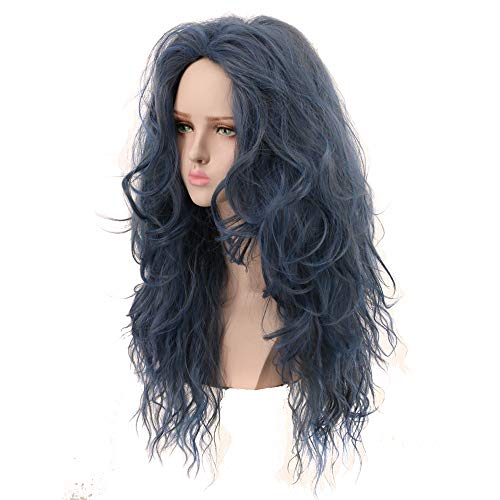Yuehong Long Wavy Wig Synthetic Anime Cosplay Wig Heat Resistant Wig Hair Wigs -