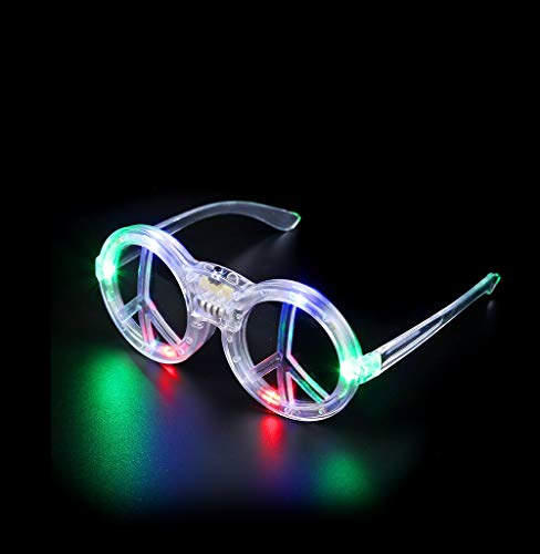 Fun Central G734 LED Light Up Peace Sign Sunglasses - Multicolor]()