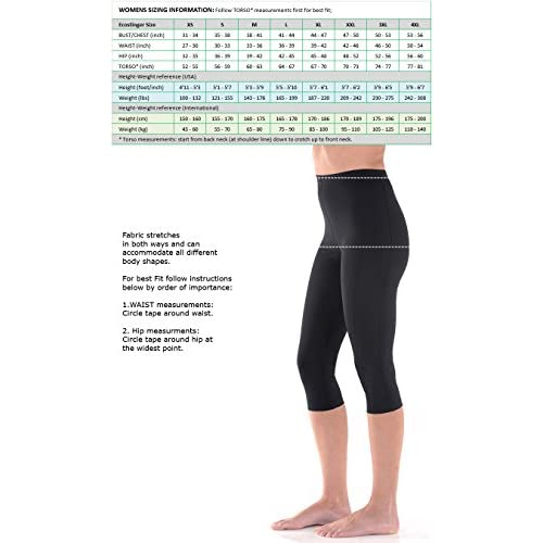 95e29a87d90 Sun Protection Swimsuits Women Swim Capri Tights High Waist UV Protection  Swimwear UPF50+ Black