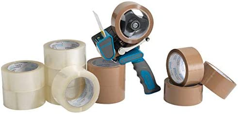 Profi Abroller f/ür Klebeband 2 x Paketbandabroller extra leises abrollen ENVO TAPE/® 901080 Handabroller silent 75 mm