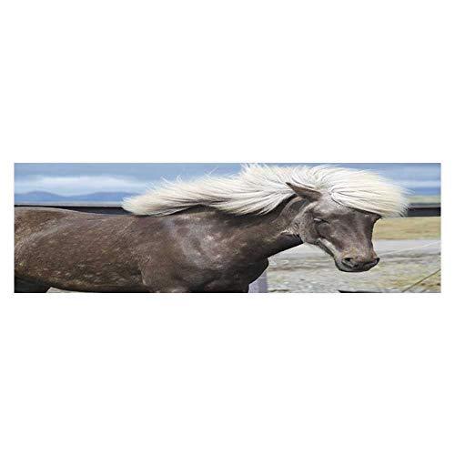 (Leighhome Aquarium Background Sticker A Horse with White Hair Aquarium Sticker Wallpaper Decoration L29.5 x H17.7)