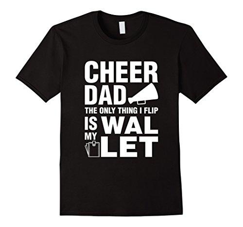 [Men's Tee Vision Cheer Dad Wallet Flip T-Shirt XL Black] (Adult Cheerleader Outfits)