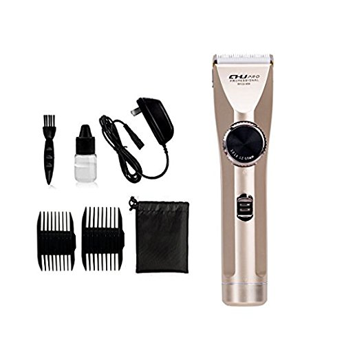 CHJPRO Professional Men's Hair Clippers Strong Wear Resistance Of The Brass Shaft Material Fashion Cordless And Rechargeable Haircutting Tools(Gold) CHJPRO-CA