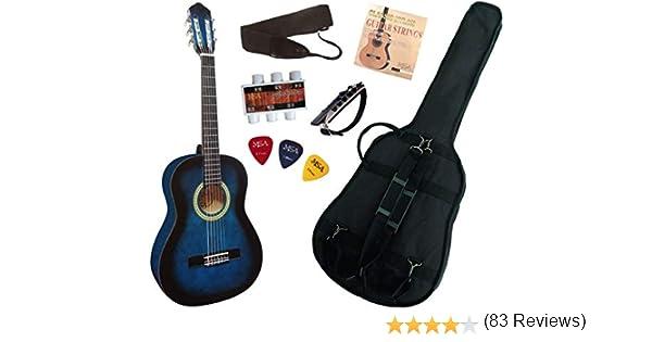 Juego de guitarra clásica 3/4 (para niños de 8 a 13 años), con 6 ...