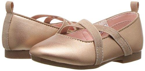 OshKosh B'Gosh Girls' Flora Ballet Flat, Rose, 5 M US Toddler - Image 6