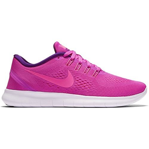 Nike Women's Free RN Training Shoes (6.5, Fire Pink/Blue Glow/Light Violet/Pink - Shoe Road Fire Womens