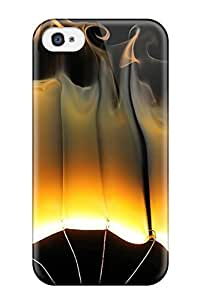 Hot Tpye Flames Case Cover For Iphone 4/4s