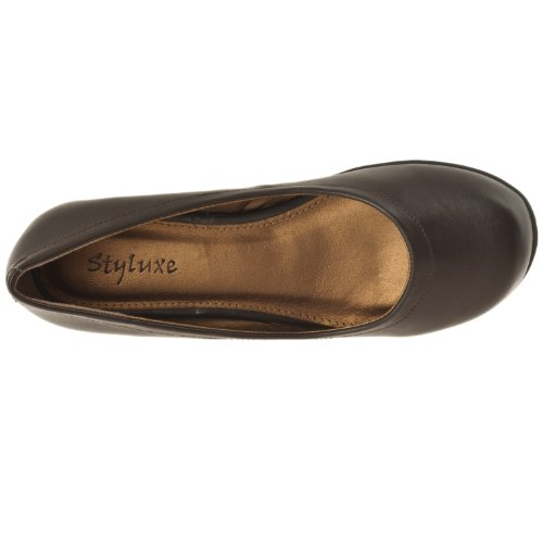 Chaussures À Enfiler Bts Rondes Stylts Womens, Brun Noir