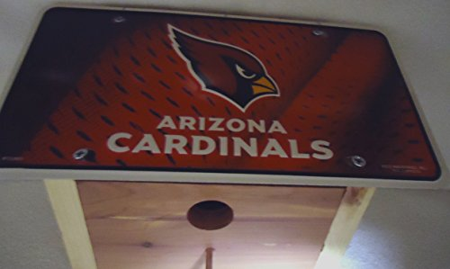 1 , Arizona, Bird House, with a , ARIZONA CARDINALS , Metal Sign, Roof, 1.25in. Opening, 11Band, with Perch, 6B3.5,3601