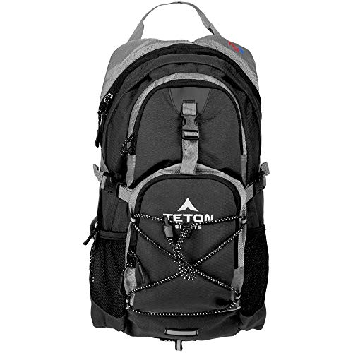 TETON Sports Oasis 1100 Hydration Pack | Free 2-Liter Hydration Bladder | Backpack design great for Hiking, Running, Cycling, and Climbing | Black