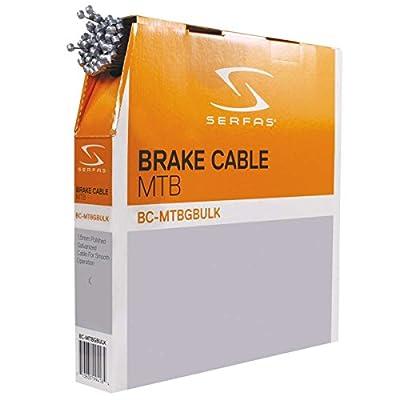 Serfas Mountain Bicycle Galvanized Steel Bicycle Brake Cable - Bulk Box - BC-MTBGBULK
