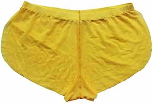 a78b7c428310 iiniim Men's Split Side Sheer Mesh Boxer Shorts Briefs Trunks Bikini  Underwear