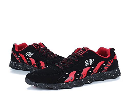 Hommes Automne et hiver Cravate Rayures Loisirs Exercice Voyager Chaussures black red 420 hji0e06VO