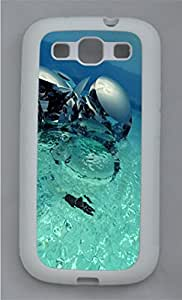 Abstract 3D Water Statue TPU Silicone Case Cover for Samsung Galaxy S3 I9300 White