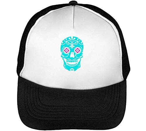 Colourful Snapback Negro Beisbol Hombre Candy Gorras Blanco Skull rqnwvYIOrx