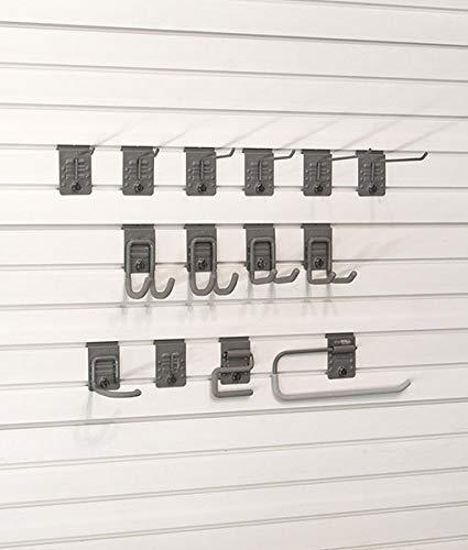 StoreWALL Basic Hook Bundle Accessory Kit with 14 Heavy Duty Locking Slatwall Hooks by StoreWALL