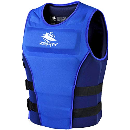 Zeraty Life Jacket Adult Impact Vest for Outdoor Floating Swimming Ski|CE Proof 50N|Blue